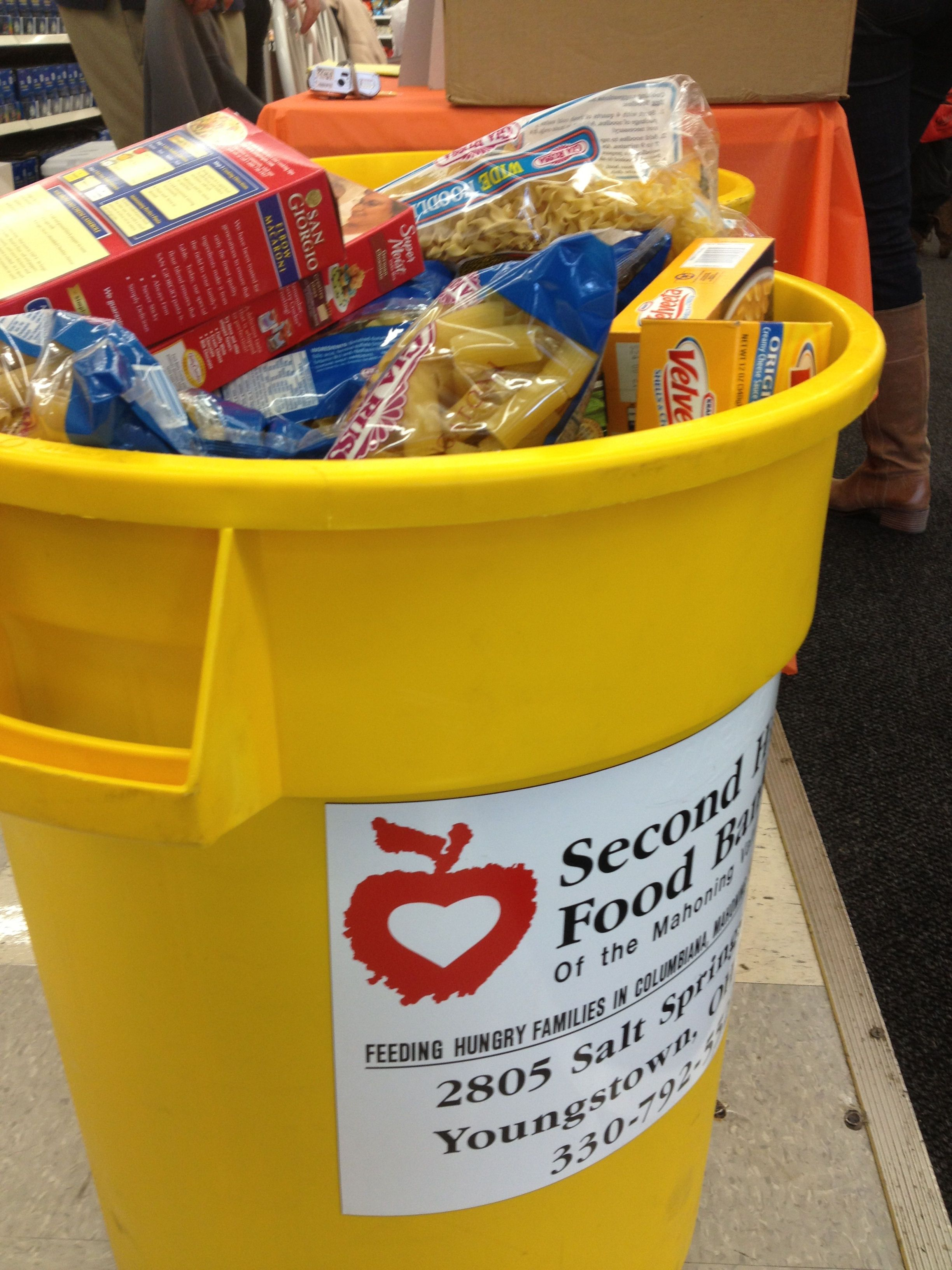At the end of the day, we collected over 1,000 food items at our Project: Feed Our Valley food drive at the Kmart Super Center in Niles, OH.