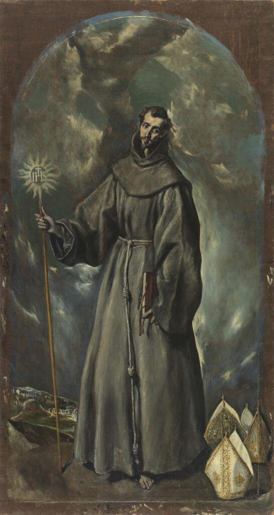 St Bernadino. By El Greco, 1603, Museo Nacional del Prado