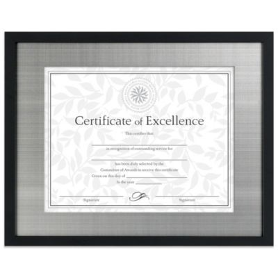 Matted 85 X 11 Document Frame In Blacksilver Products In 2018