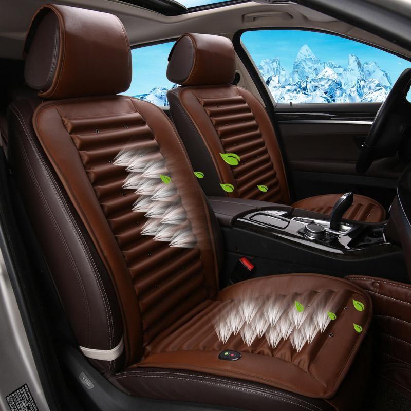Cold air circulation builtin fan cushion ventilation car