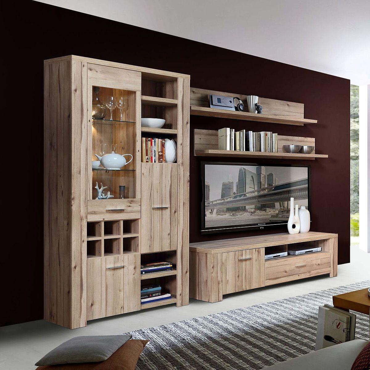 Ebay Angebot Wohnwand Cubana Anbauwand Wohnzimmer Wohnzimmerkombi In Planked EicheIhr QuickBerater