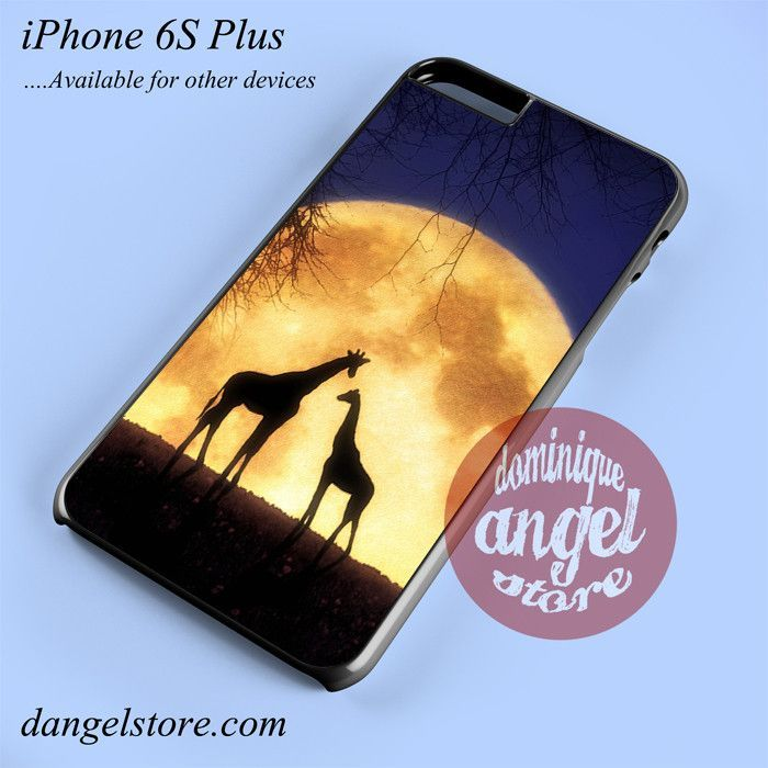Giraffes Romantic Moon Phone case for iPhone 6S Plus and another iPhone devices