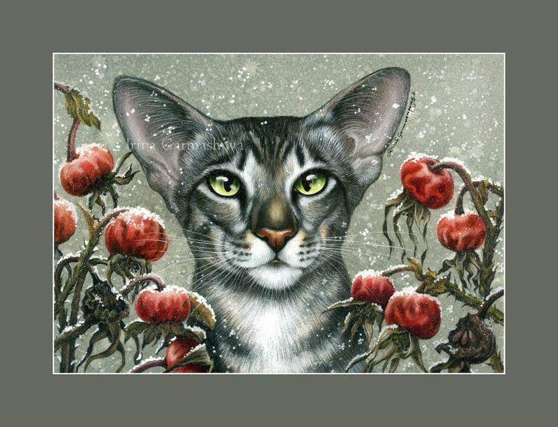 Художник Ирина Гармашова (Irina Garmashova). Коты и цветы ...