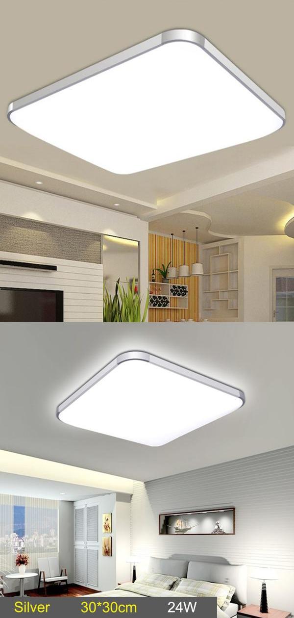 Led Ceiling Down Light Lamp 24w Square Energy Saving For Bedroom