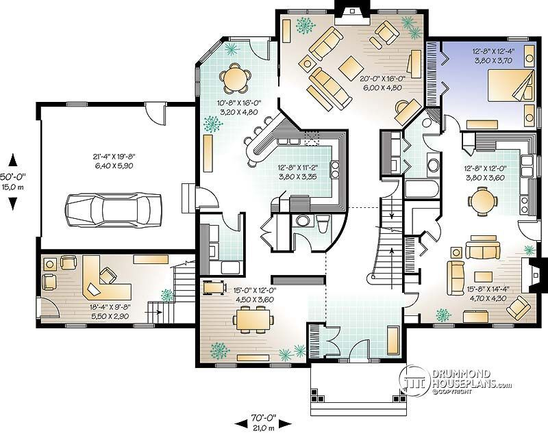 Multi Family Plan W2681 Detail From Drummondhouseplans Com Family House Plans Colonial House Plans House Plans