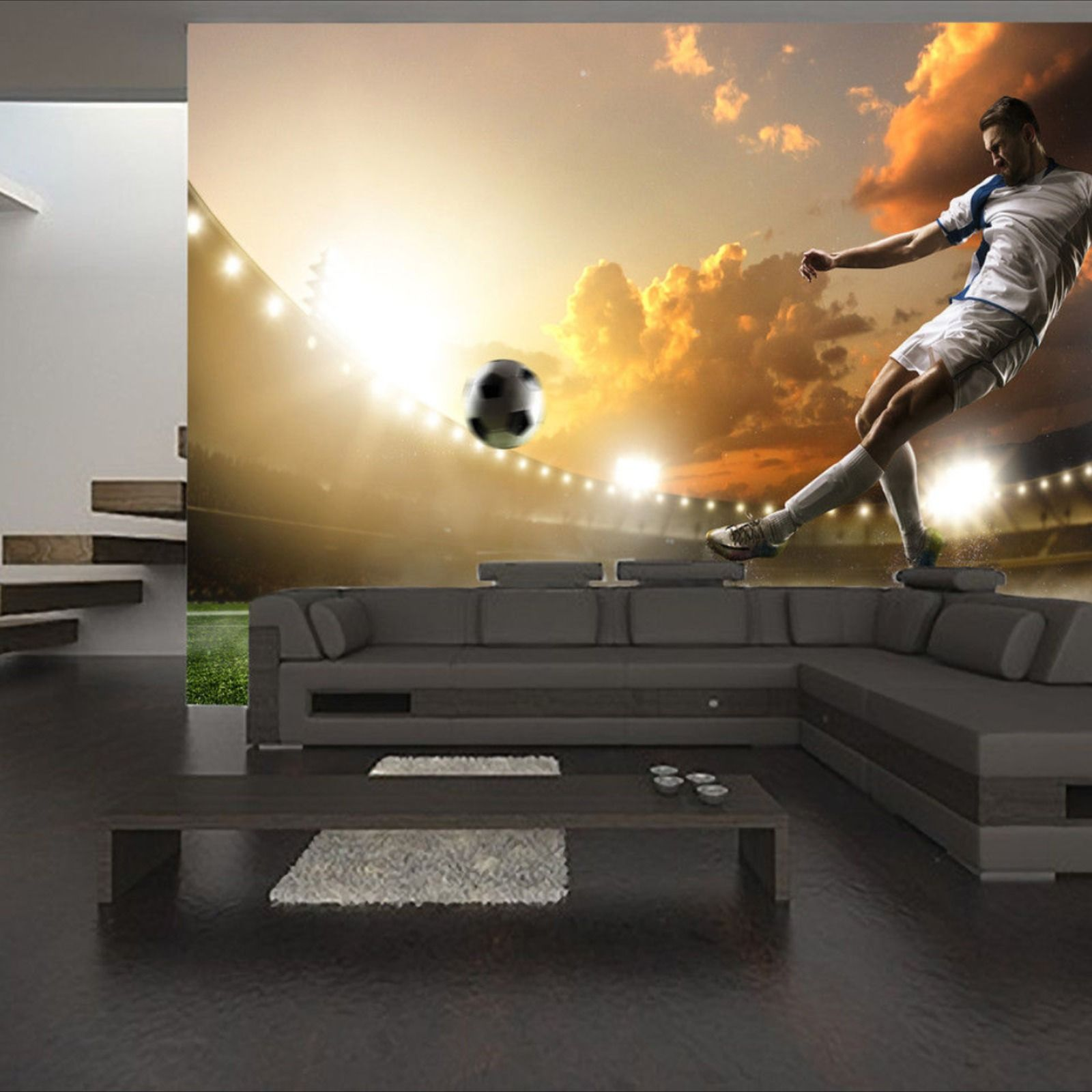 Details about Soccer Player Wall Mural Photo Wallpaper
