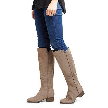 Women\u0026#39;s Evie Suede Boots - Merona