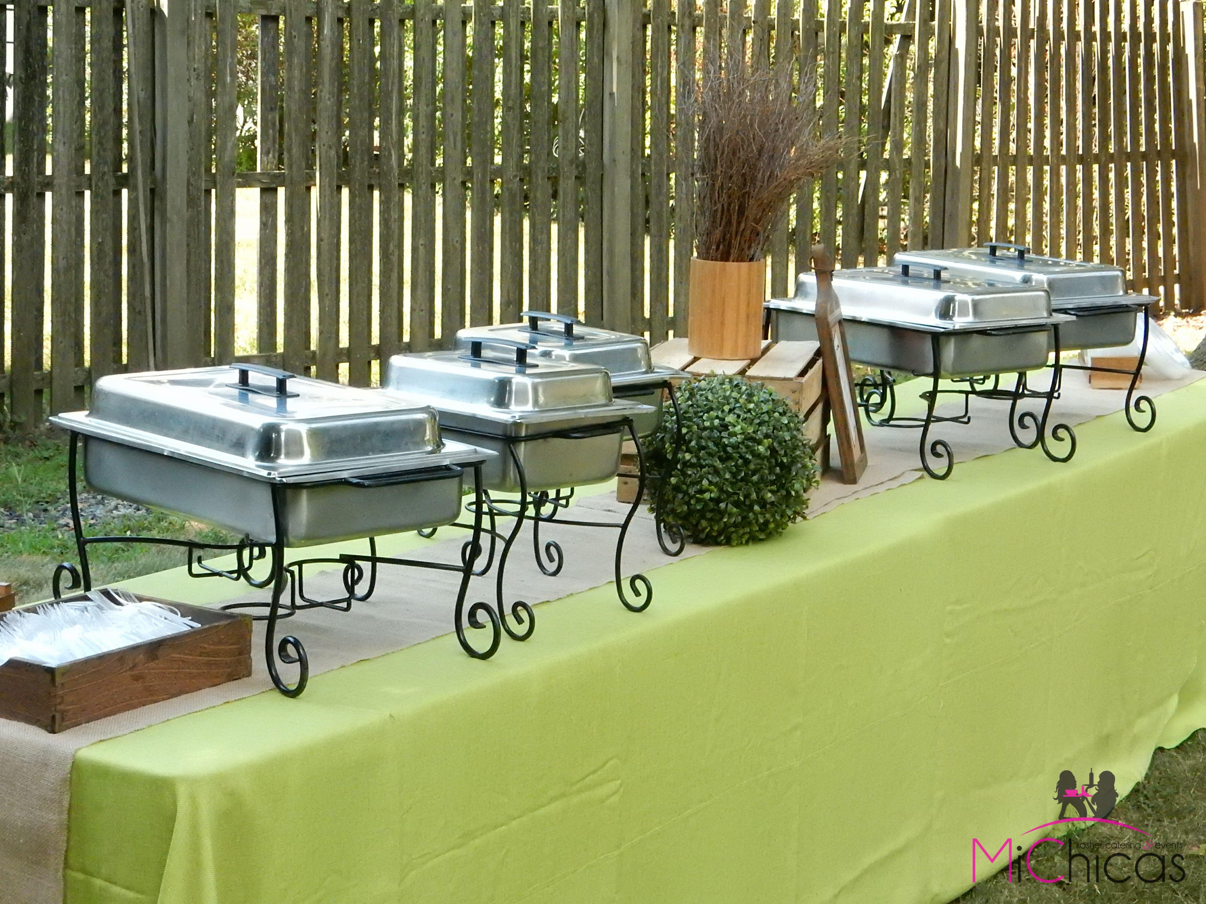 Buffet table at outdoor kiddush Beautiful Buffets