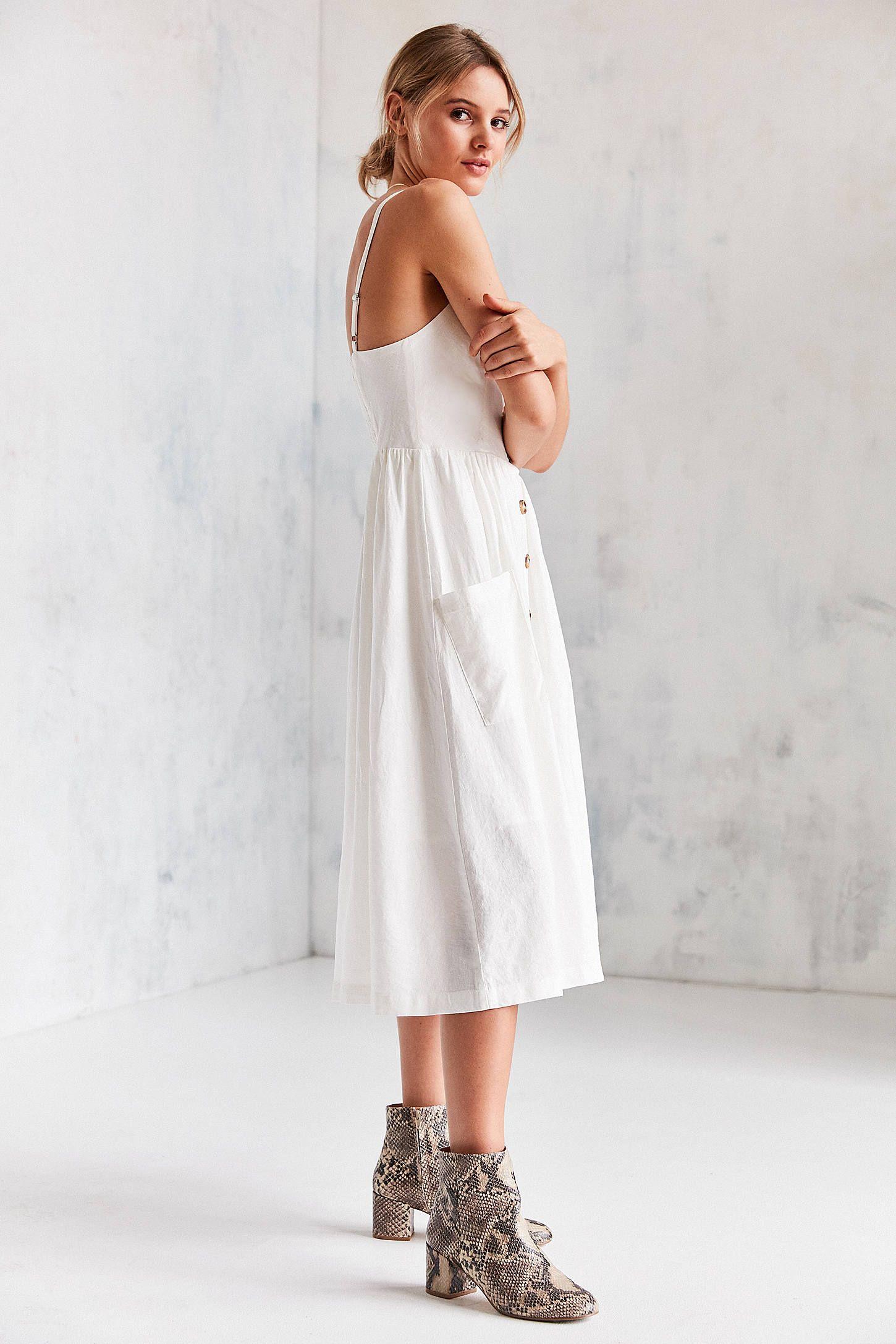 e76f1691d36 Slide View  5  Cooperative Emilia Linen Button-Down Midi Dress ...