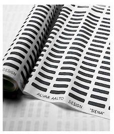 Artek Siena kangas musta-valkoinen