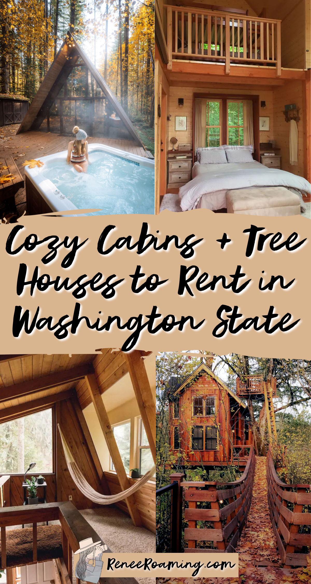 24 Cabins and Treehouses to Rent in Washington Sta