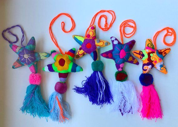 Star Pom Pom Mexican Handicrafts Home Decor Mexican Decor