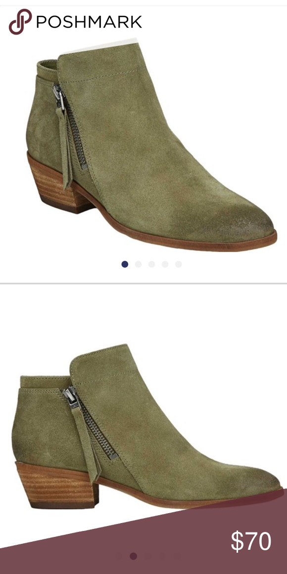 9572758db5e0 Sam Edelman Moss Green Suede Ankle Boots Size 7 Sam Edelman olive green    moss ankle