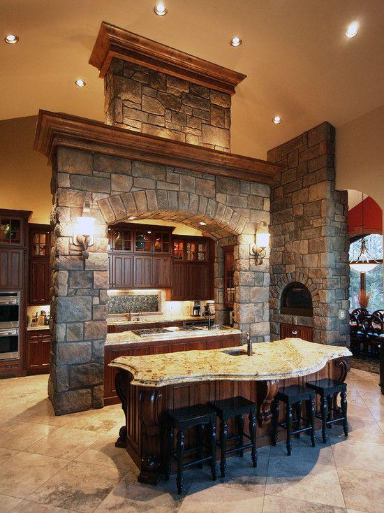 Kitchen Stone Doorway Arches Design