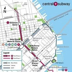 New San Francisco Central Subway Line Currently Under Construction