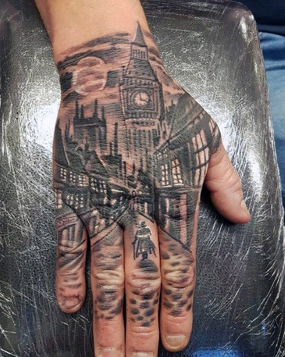 40 Unique Hand Tattoos For Men Manly Ink Design Ideas