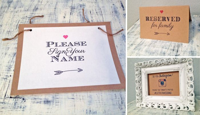 Wedding guest book signs - Google Search