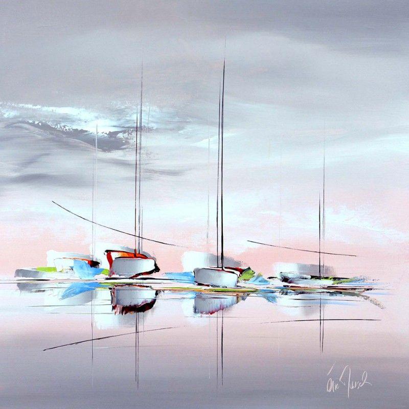 Teintes Reflets 100x40 Peinture Aquarelle Peinture Bateau Et