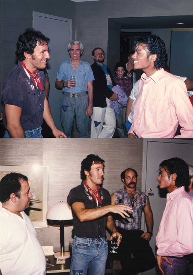 Bruce Springsteen and Michael Jackson in Philadelphia 1984 | Rare and beautiful celebrity photos