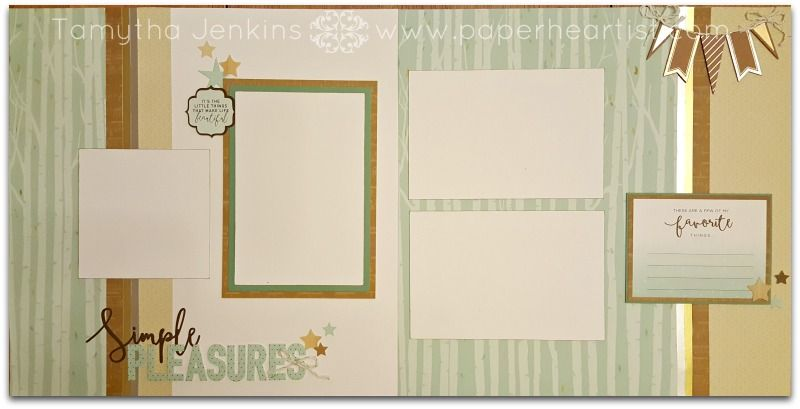 simple pleasures scrapbooking