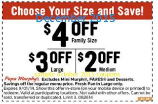 graphic regarding Papa Murphys Printable Coupons named Absolutely free Printable Discount codes: Papa Murphys Coupon codes warm discount codes