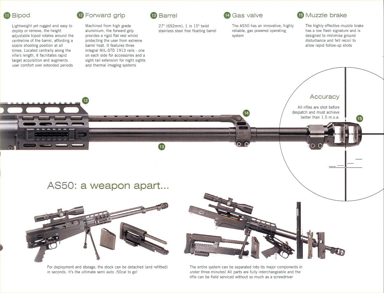Accuracy International Ai As50 Semi Automatic Rifle Brochure P4 Kimber 1911 Parts Diagram Colt Tactical Guns