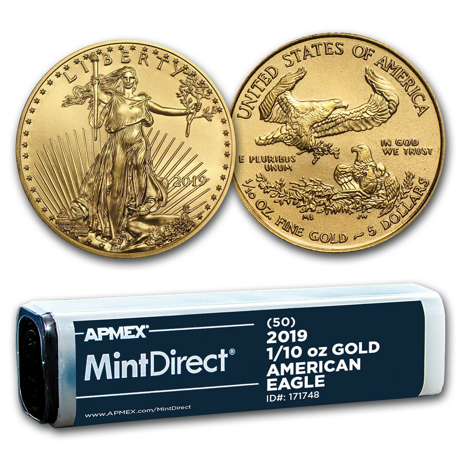 2019 1 10 Oz Gold American Eagle 50 Coin Mintdirect Tube Sku 171748 Price Us 8855 43 Buy With Con In 2020 Gold American Eagle Gold Eagle Coins Where To Buy Gold