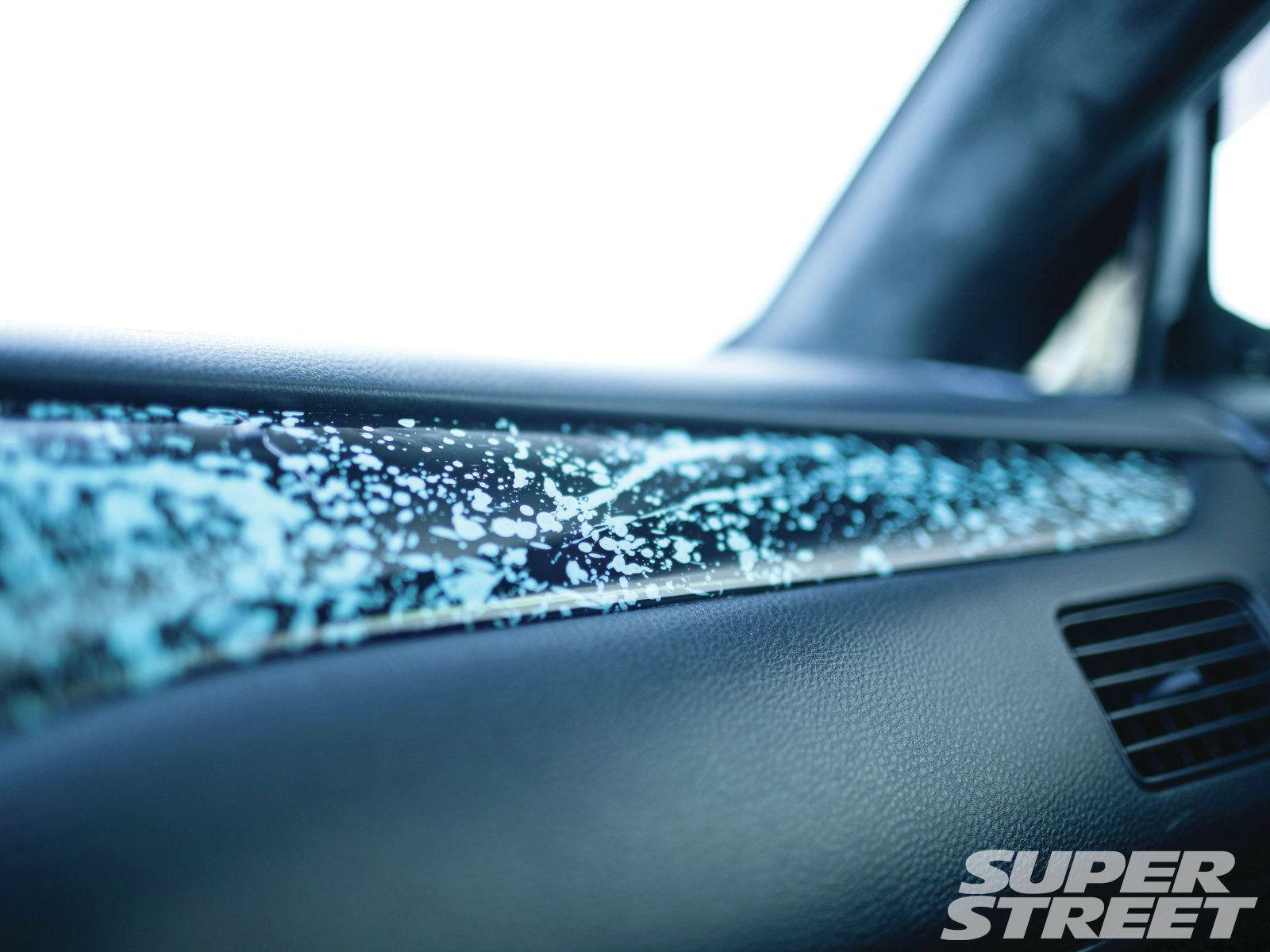 Car interior paint job - Paint Splatter Interior