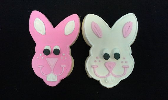 Hand Decorated Assorted Rabbit Cookies from Lochel's Bakery