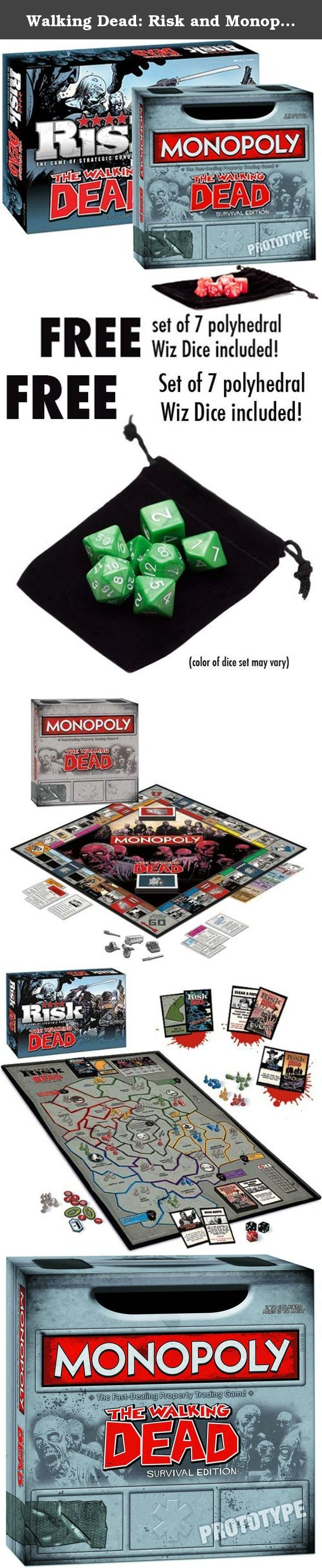 Walking Dead Risk and Monopoly Combo Pack with free Wiz