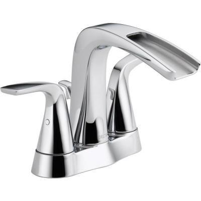 4 Bathroom Faucets delta tolva 4 in. centerset 2-handle bathroom faucet in chrome