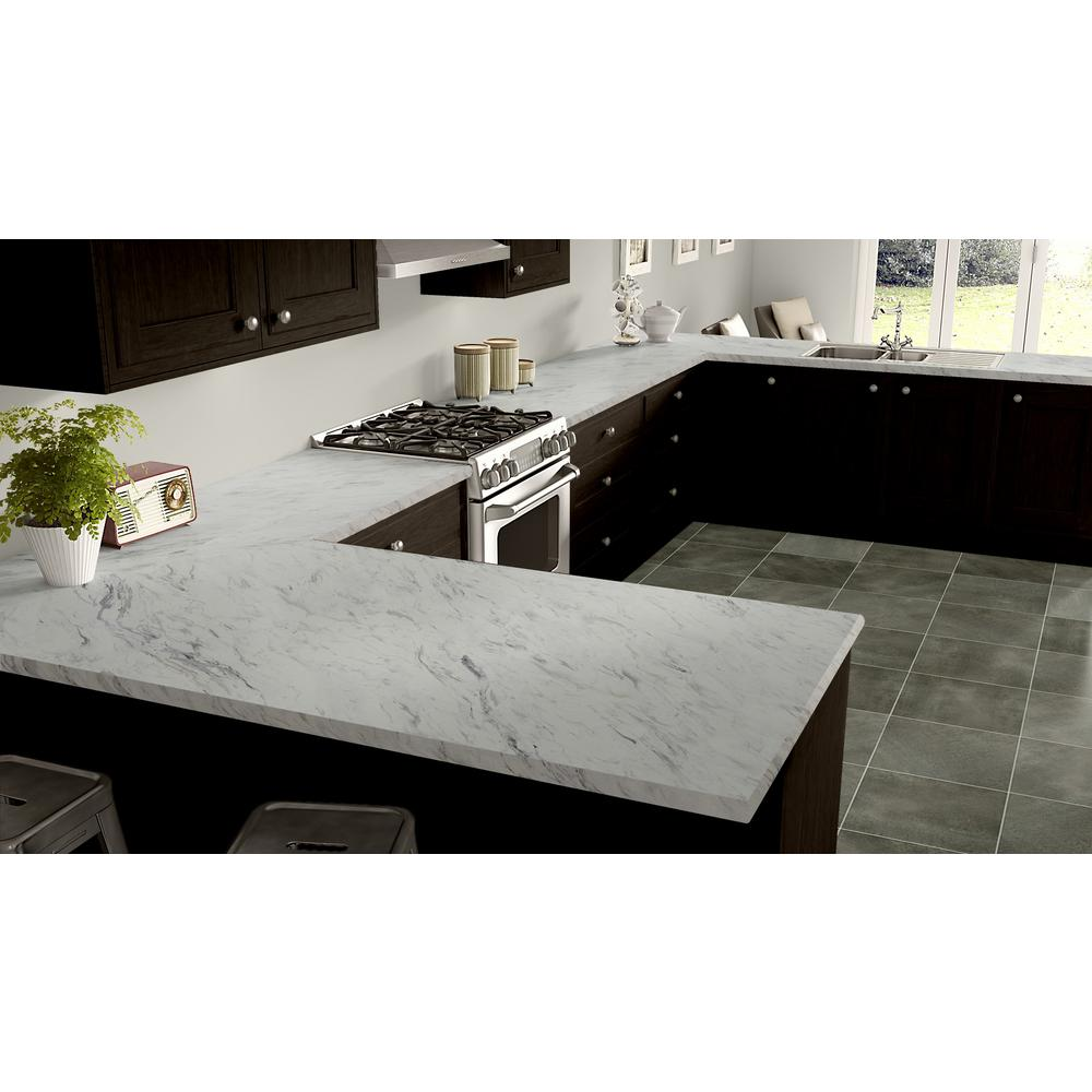 Wilsonart 4 Ft X 8 Ft Laminate Sheet In Calcutta Marble With