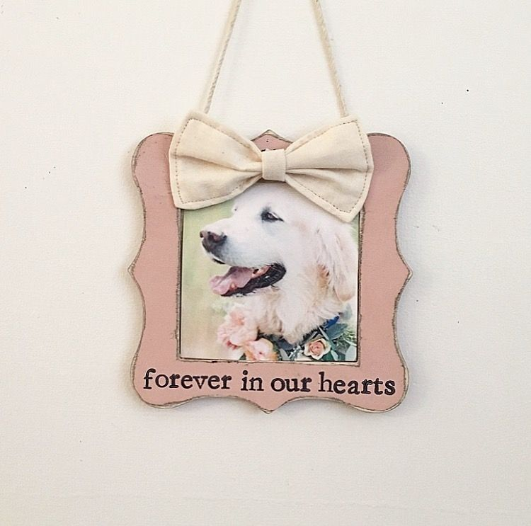 Dog ornament, dog picture frame, pet memorial gift, dog loss, pet ...
