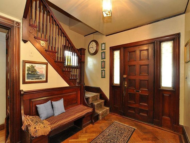Old World Interior With Warm Toned Walls And Gorgeous Dark Trim The Scroll Detail Along