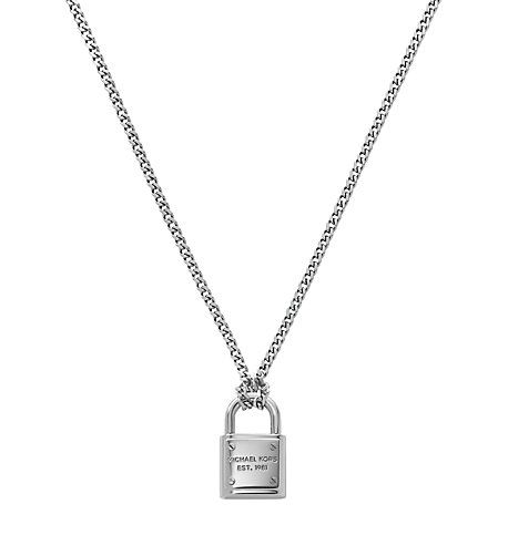 Michael Kors Silver Tone Pendant Necklace Silver Silver Pendant Necklace Necklace Michael Kors Silver