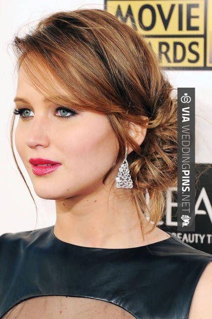Side Bun Wedding Hair Jennifer Hair Styles Medium Hair Styles Up Dos For Medium Hair