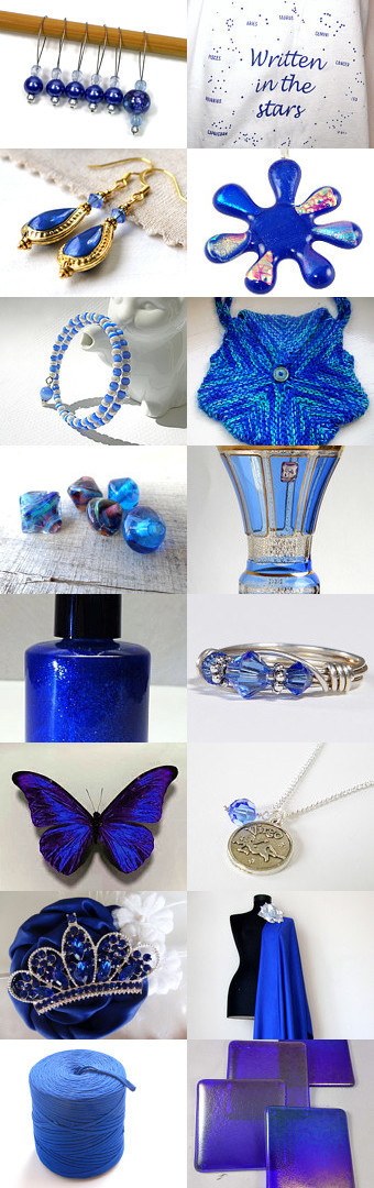 Sensational Sapphire by Pat Longmuir on Etsy--Pinned with TreasuryPin.com