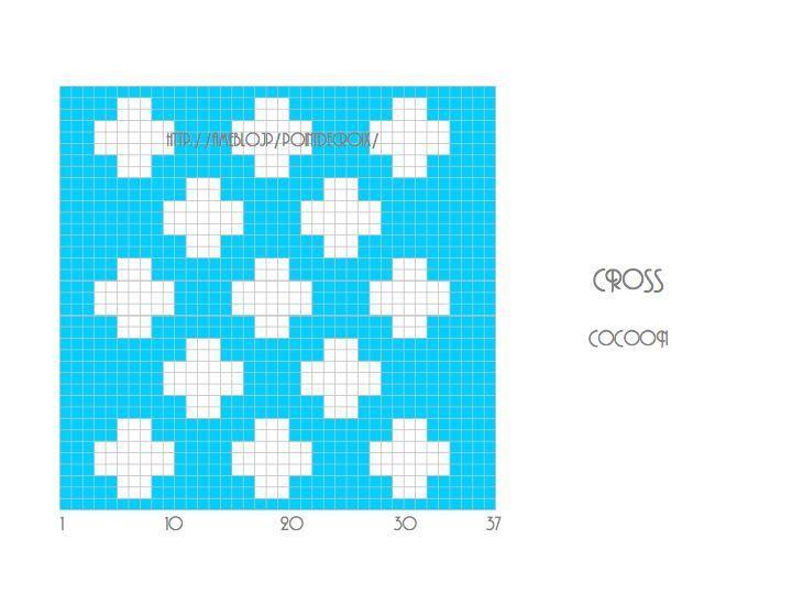 ++クロス柄ポットマット++編み図 の画像|cocooning*