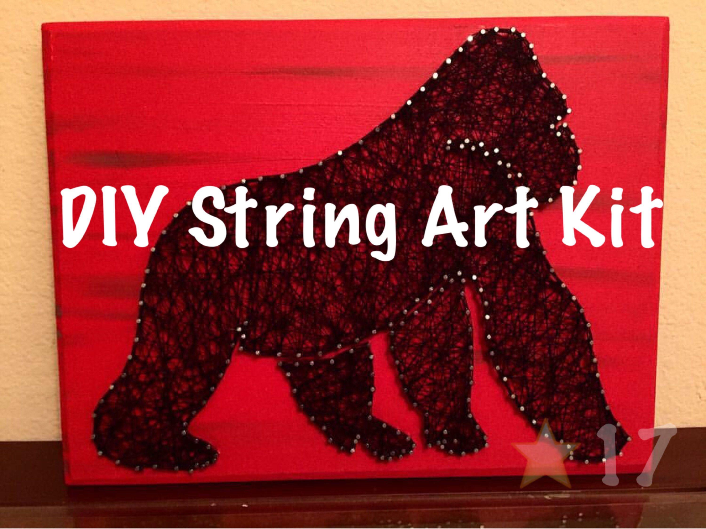 Diy gorilla string art kit harambe thread art how to rip step diy gorilla string art kit harambe thread art how to rip step instructions solutioingenieria Images