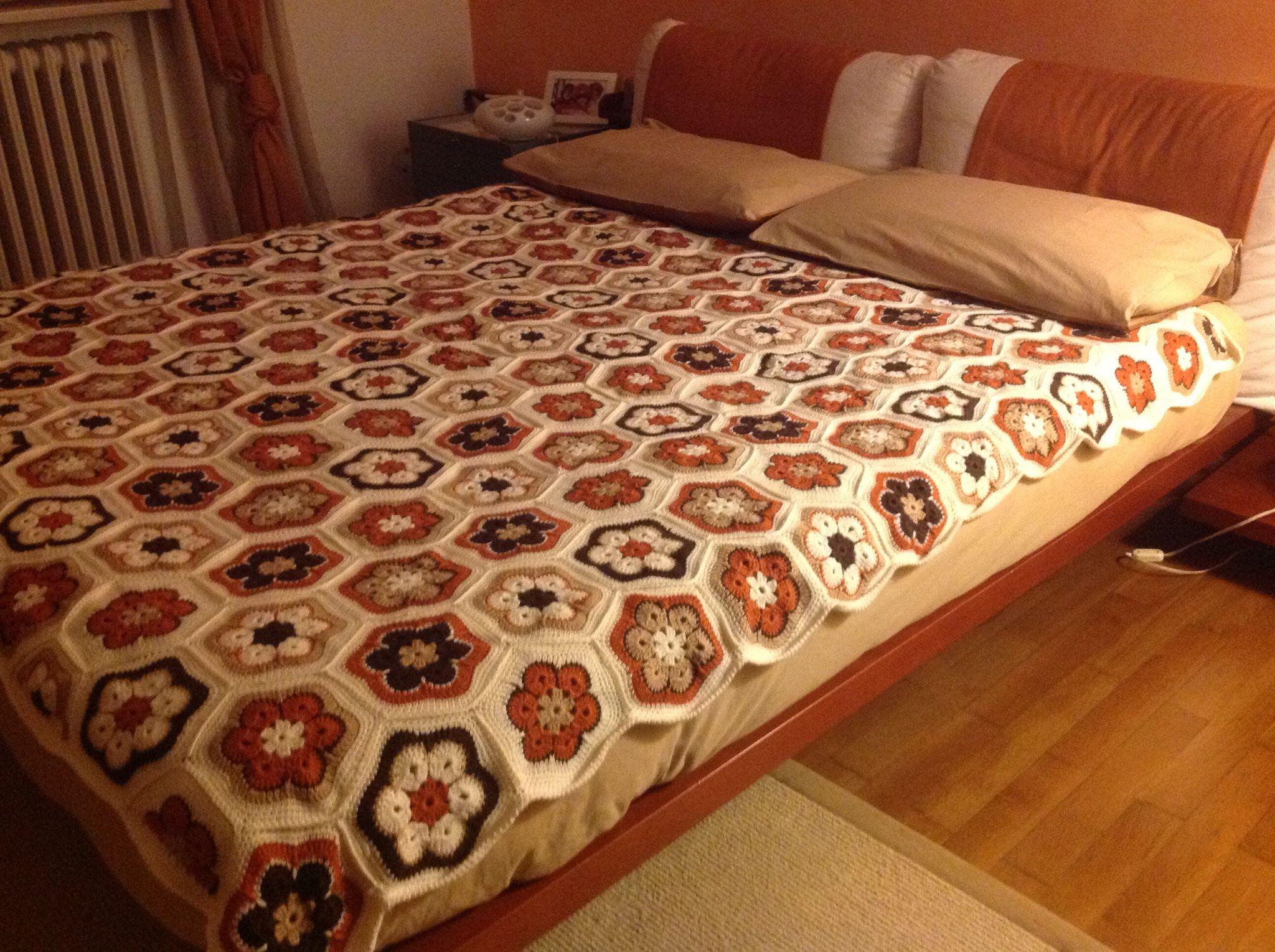 Mattonelle all uncinetto per coperte trendy plaid realizzato con