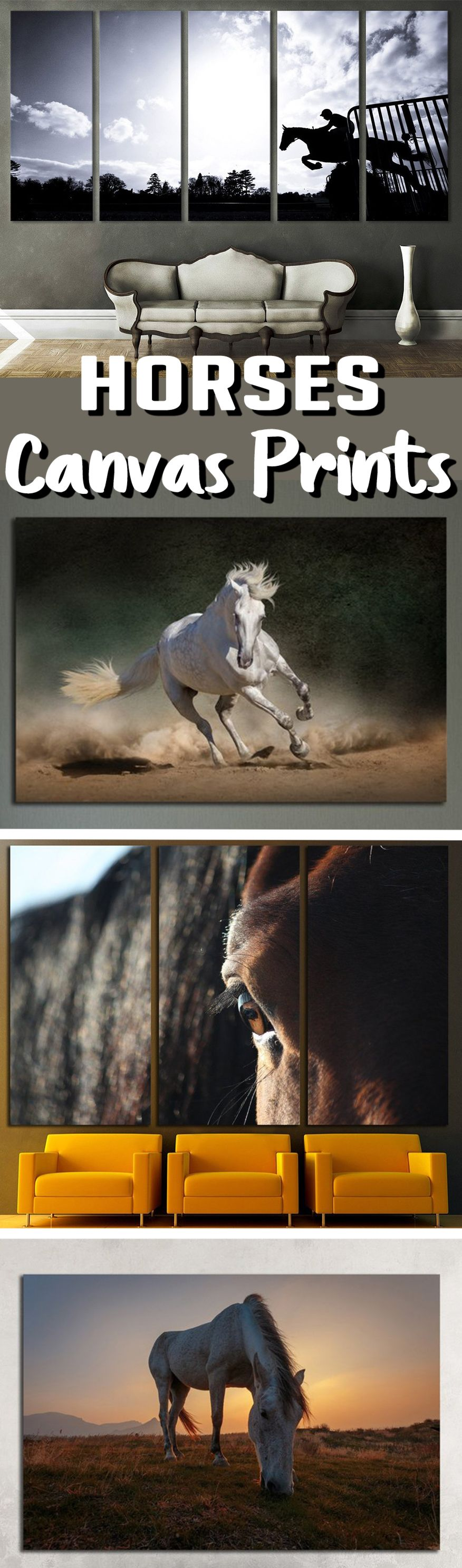 Large horse wall art for home u office decoration bedroom ideas