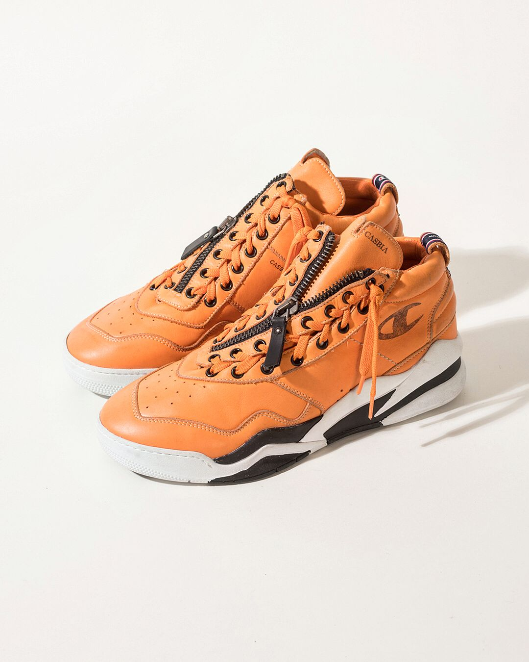 6ba77ebbe0a SS18 FIRST DROP   9 new shoes available online at casbia.com    . AWOL  Atlanta   Safety Orange   Stone washed calf   Casbia x Champion