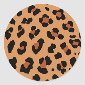 Leopard Print Classic Round Sticker | Zazzle.com -   diy Tumblr art