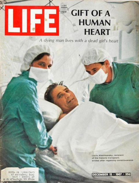 The Unlikely Story Behind The World S First Heart Transplant Life Magazine Covers First Heart Transplant Life Magazine
