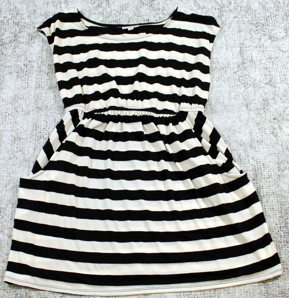 A pea in the pod maternity dress womens size large black and white a pea in the pod maternity dress womens size large black and white striped apeainthepod ombrellifo Images