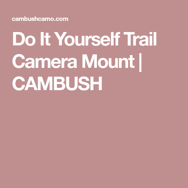 Do it yourself trail camera mount cambush hunting pinterest do it yourself trail camera mount solutioingenieria Choice Image