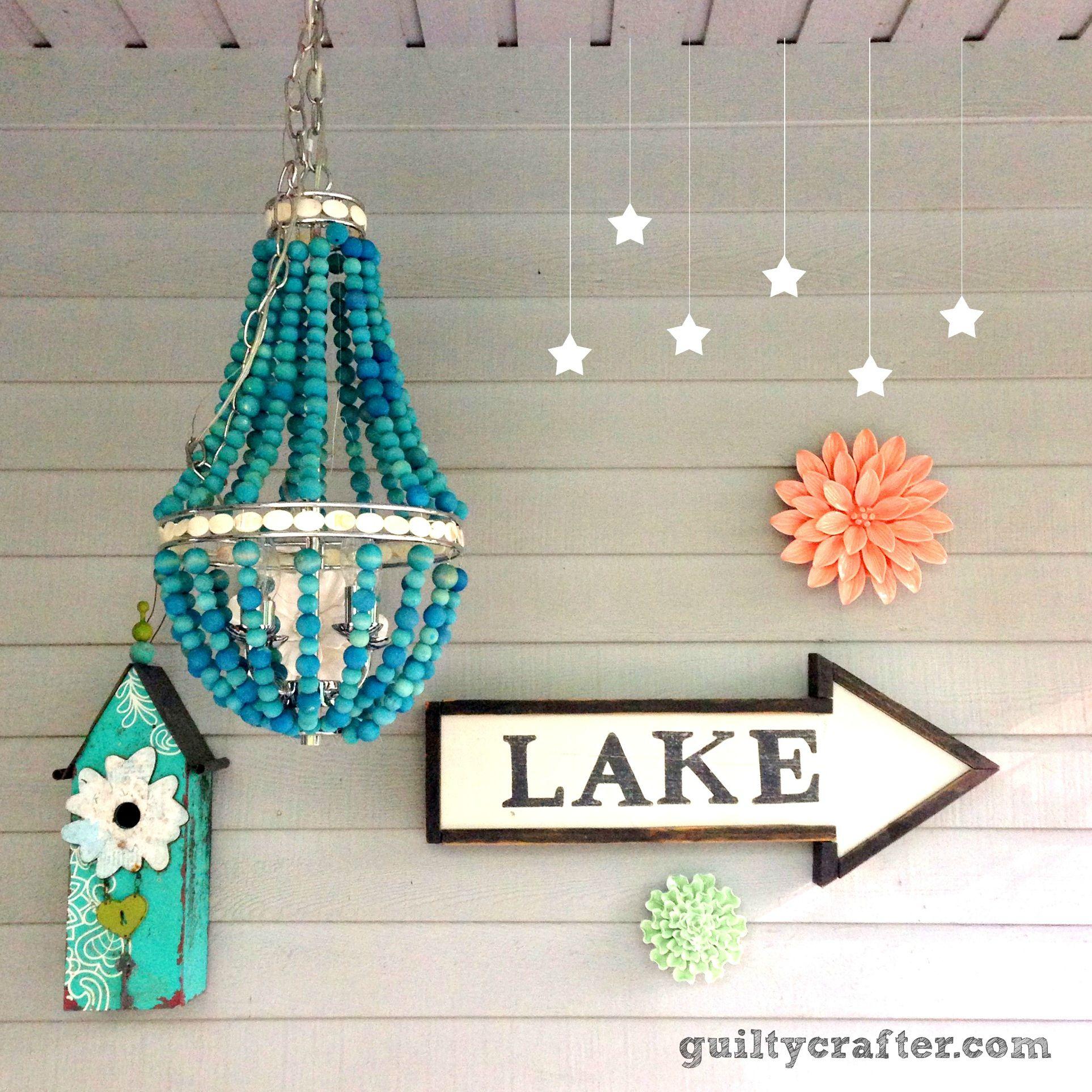 Wood bead chandelier ritdye decorating diy pinterest wood wood bead chandelier ritdye arubaitofo Gallery