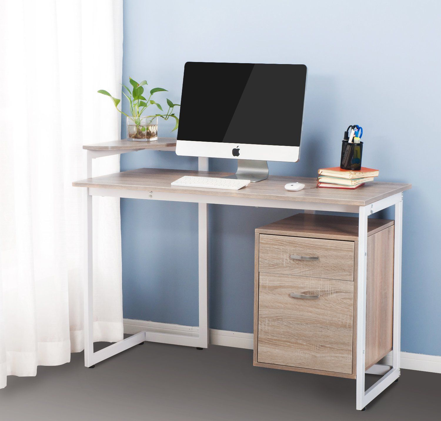 shaped categories decorating office inspirations interesting with grey l remarkable appealing home wooden or gray counter shape for images elegant brown ideas on drawers desk