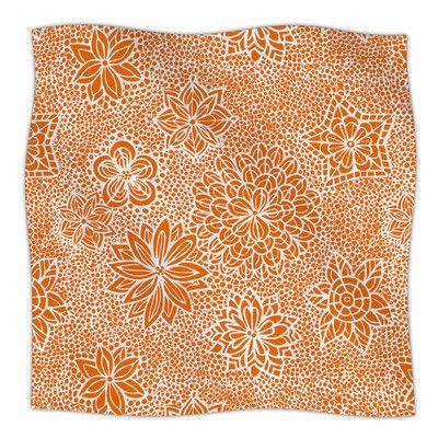 """East Urban Home 'Garden Flowers' By Julia Grifol Fleece Blanket Size: 80"""" L x 60"""" W x 1"""" D"""
