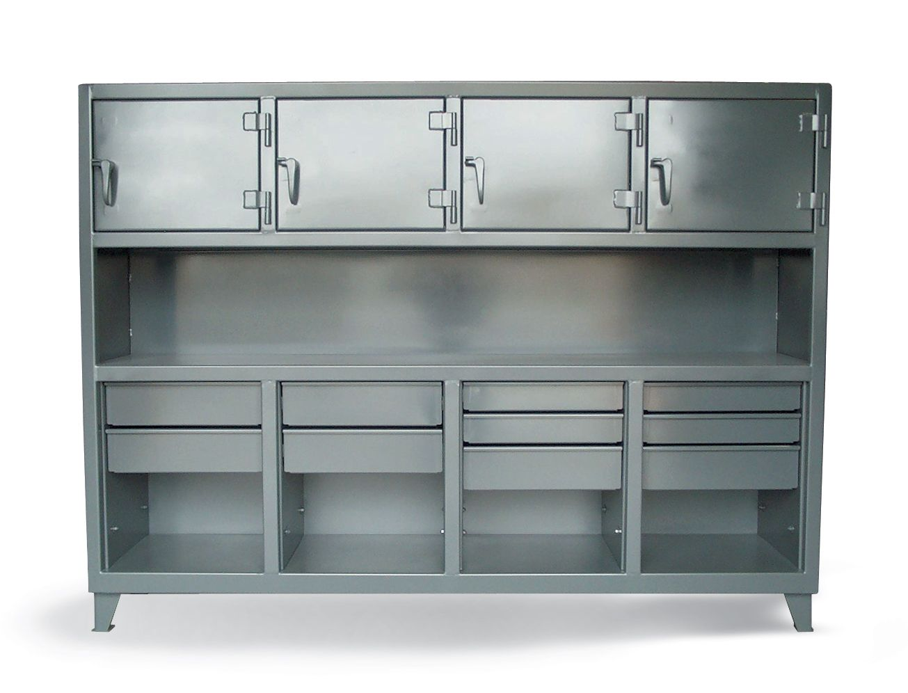 black drawers steel with trinity in stainless p workbench coated face workbenches mobile rolling tls powder metal